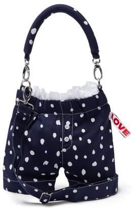 Charles Jeffrey Loverboy Panties Polka Dot Wool Cross Body Bag - Womens - Navy White