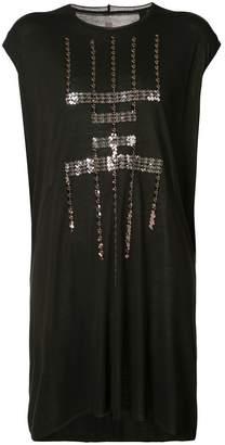 Rick Owens Lilies sequin pattern sleeveless dress