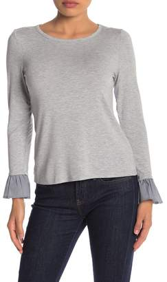 Vince Camuto Mixed Media Sweater (Petite)