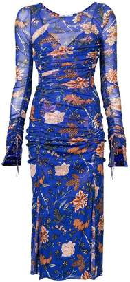 Diane von Furstenberg gathered floral dress