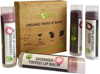 D.E.P.T Sky Organics 4-Pack Organic Supple Lips Tinted Lip Balms