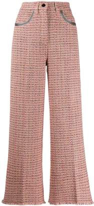 Etro woven cropped trousers