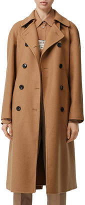 Burberry Cashmere Twill Double-Breasted Trench Coat