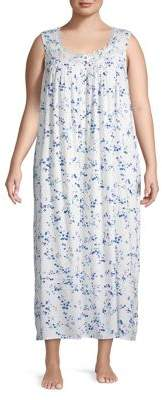 Eileen West Plus Floral Night Gown