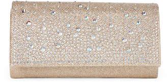 Jessica McClintock Champagne Chloe Cascading Embellished Clutch