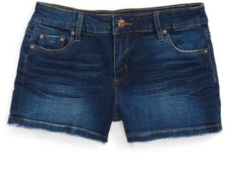 Tractr Frayed Hem Denim Shorts