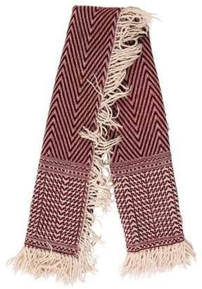 Isabel Marant Patterned Wool-Blend Scarf