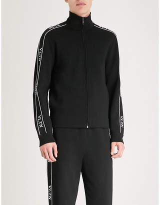 Valentino Logo-print jersey zip-up jumper