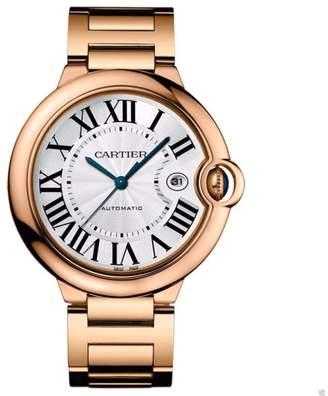 Cartier w69006z2 Ballon Bleu 18Kt Rose Gold Bracelet 42mm Watch