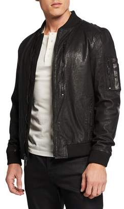 Hudson Men's Leather Bomber Jacket