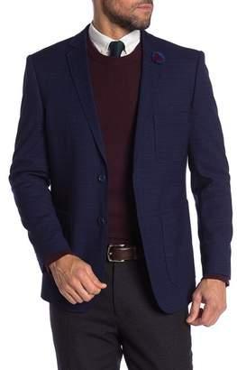 English Laundry Black Blue Two Button Notch Lapel Blazer