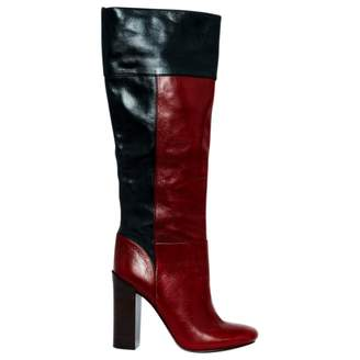 Tory Burch Red Leather Boots