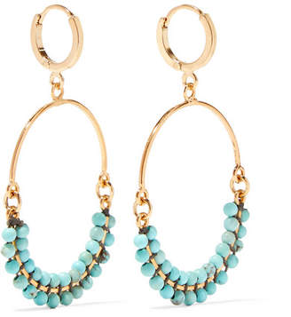 Isabel Marant Gold-plated Beaded Earrings
