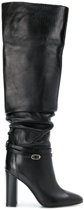 Twin-Set ruched knee-high boots