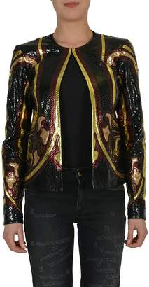 Gucci 100% Real Python Buttonless Women's Basic Jacket