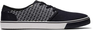 Toms Black Pattern Print Mens Carlo Sneakers Topanga Collection