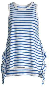 Current/Elliott Side Slit Ruffled Muscle Shirt
