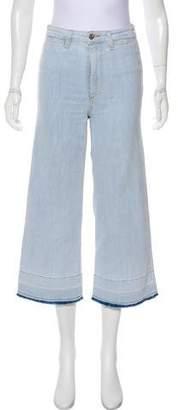 Veronica Beard Ali High-Rise Wide-Leg Jeans
