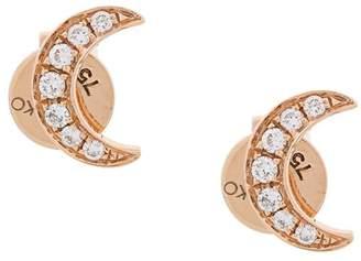 Anita Ko 18kt rose gold Crescent Moon diamond studs