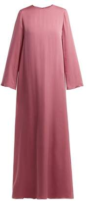The Row Antoi Round Neck Silk Tunic Dress - Womens - Pink