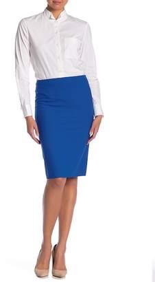 Theory Skinny Stretch Wool Pencil Skirt