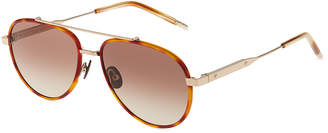 Bottega Veneta Aviator Ombre Metal Sunglasses