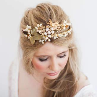 Belle Epoque La Golden Vintage Bridal Headband