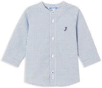 Jacadi Boys' Grid-Print Button-Down Shirt