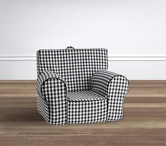 Pottery Barn Kids My First Black Check Anywhere Chair®