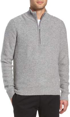 Vince Cashmere Quarter Zip Sweater