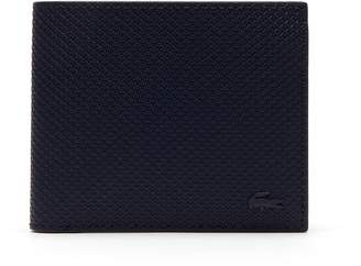 Lacoste Men's Chantaco Matte Pique Leather Three Card Wallet