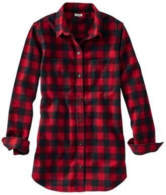 L.L. Bean L.L.Bean Women's Scotch Plaid Flannel Shirt, Tunic