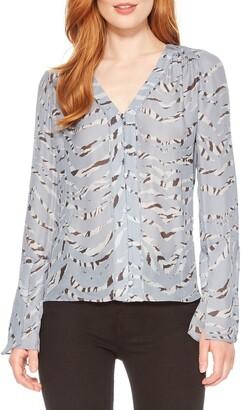Parker Oriana Button Front Silk Blend Blouse