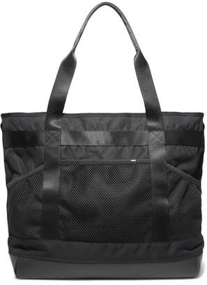 Nike Leather And Mesh-trimmed Shell Tote - Black