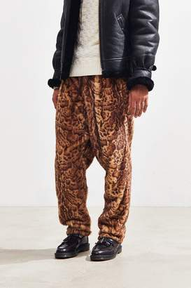 Monitaly Faux Fur Drop Crotch Pant