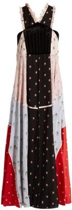 Valentino Floral Print Chiffon Dress - Womens - Multi