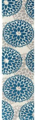 Blue Area Wrought Studio Wallner Teal Rug Rug