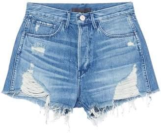 3x1 'W4 Carter' distressed frayed hem denim shorts
