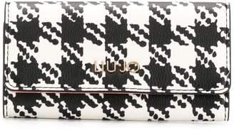Liu Jo houndstooth key-holder wallet