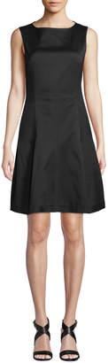 Derek Lam Round-Neck Sleeveless Fit-and-Flare Dress
