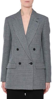 Stella McCartney Double-Breasted Herringbone Oversized Wool Blazer
