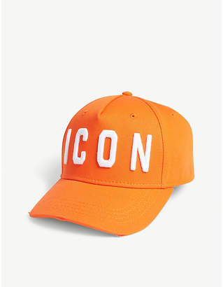 DSQUARED2 Acc ICON cotton strapback cap