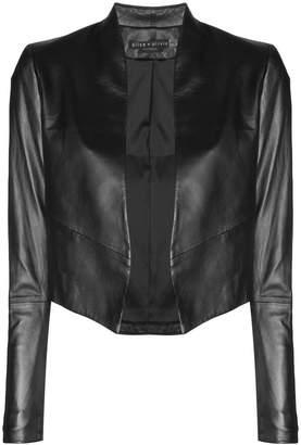 Alice + Olivia Alice+Olivia cropped leather jacket