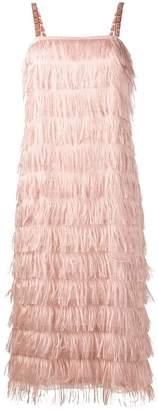 Max Mara fringed effect dress