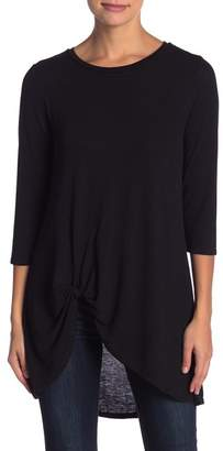 Olivia Sky Side Knit 3\u002F4 Sleeve Top