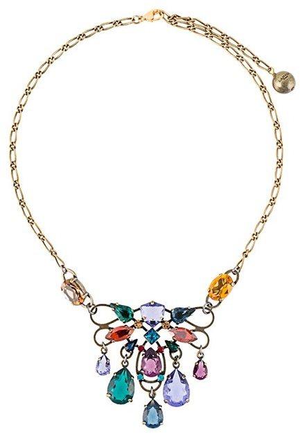 LanvinLanvin short clustered stone necklace