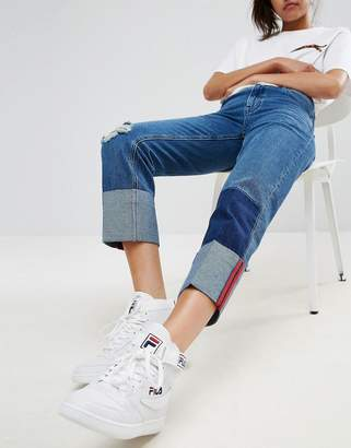 Asos DESIGN Deep Turn Up Jeans with Bound Selvage