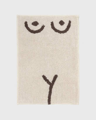 Cold Picnic White Torso Bathmat