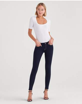7 For All Mankind BAir Denim Skinny In Rinsed Indigo