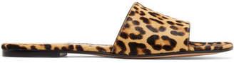 Gianvito Rossi Leopard-print Calf Hair Slides - Leopard print
